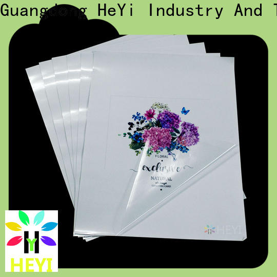 HEYI Quality printable vinyl sticker paper for bags