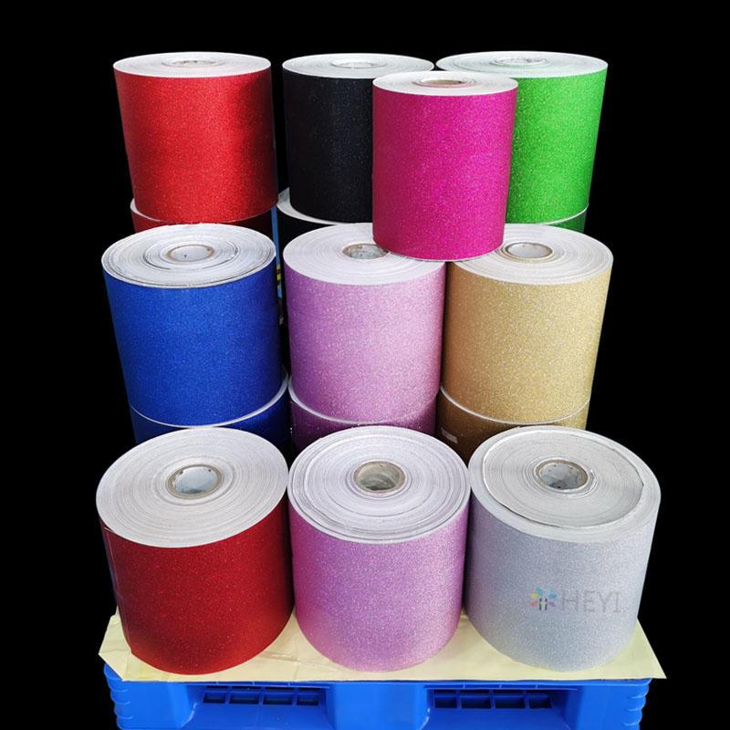 Glitter Adhesive Vinyl  Sticker Paper Roll